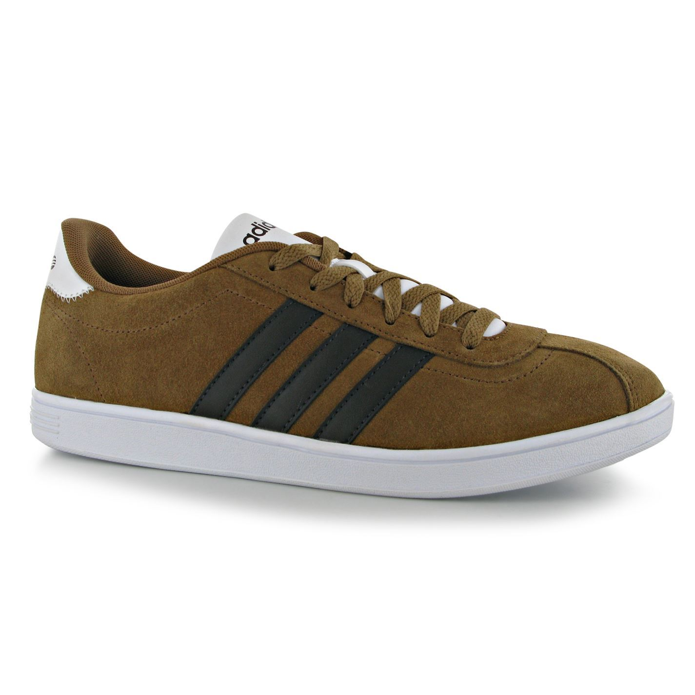 adidas vl court suede casual trainers mens timber dark brown sneakers shoes. Black Bedroom Furniture Sets. Home Design Ideas