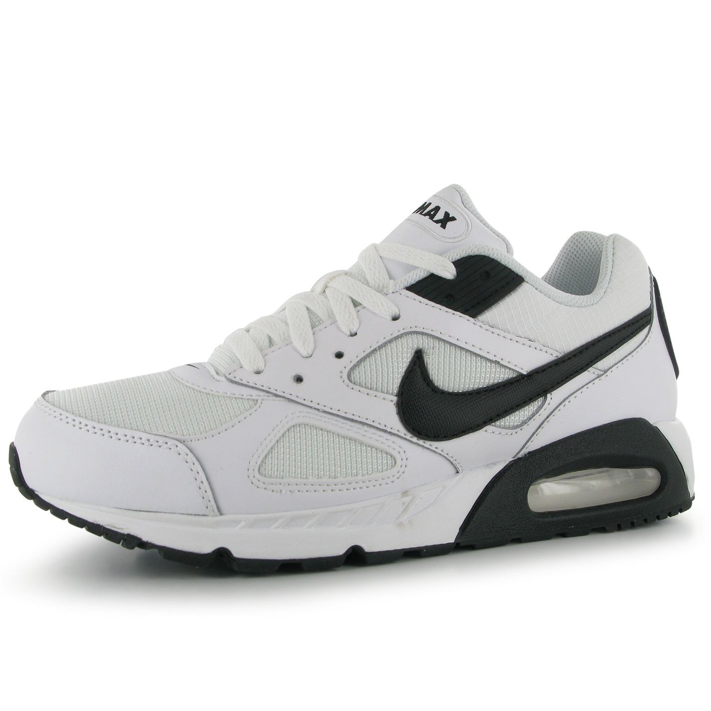 nike air max ivo trainers mens white black sneakers shoes. Black Bedroom Furniture Sets. Home Design Ideas