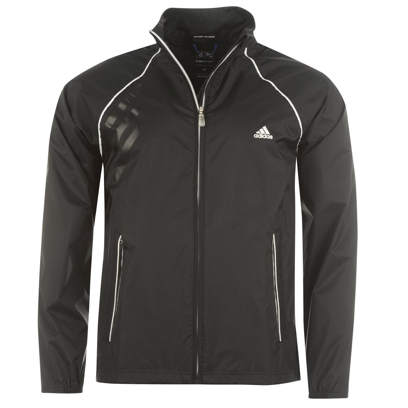 Adidas climaproof golf rain jacket mens black ebay for Adidas golf rain shirt