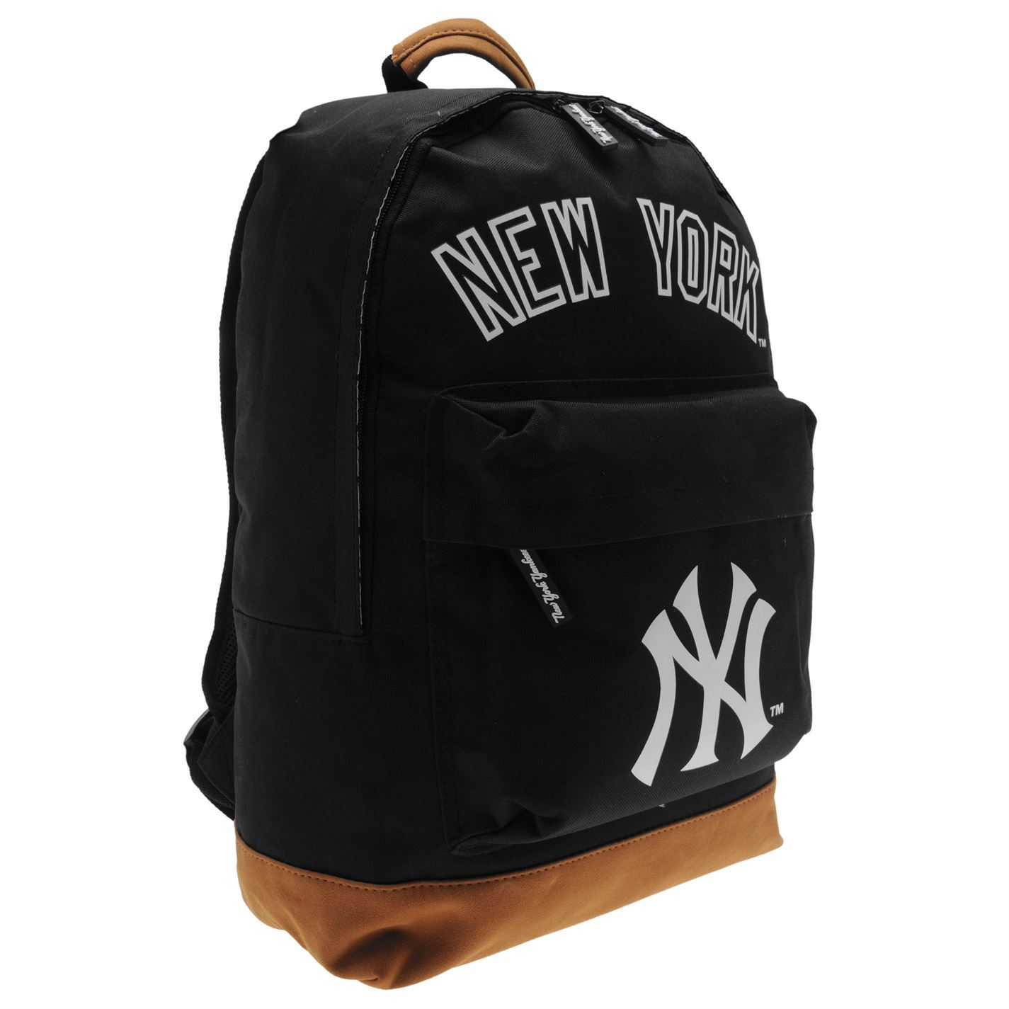new york yankees backpack black logo bag rucksack holdall. Black Bedroom Furniture Sets. Home Design Ideas