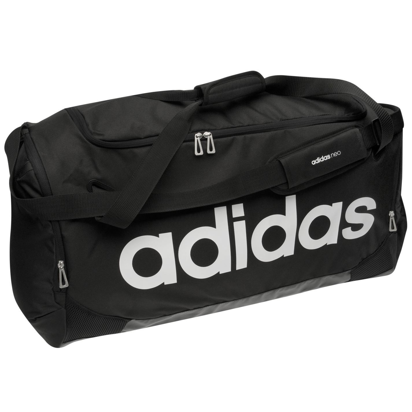 adidas linear team bag large black sports gymbag kitbag ebay. Black Bedroom Furniture Sets. Home Design Ideas