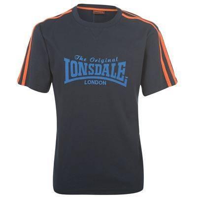LONSDALE-LONDON-Mens-Big-Logo-Navy-Orange-Casual-Training-Gym-T-Shirt