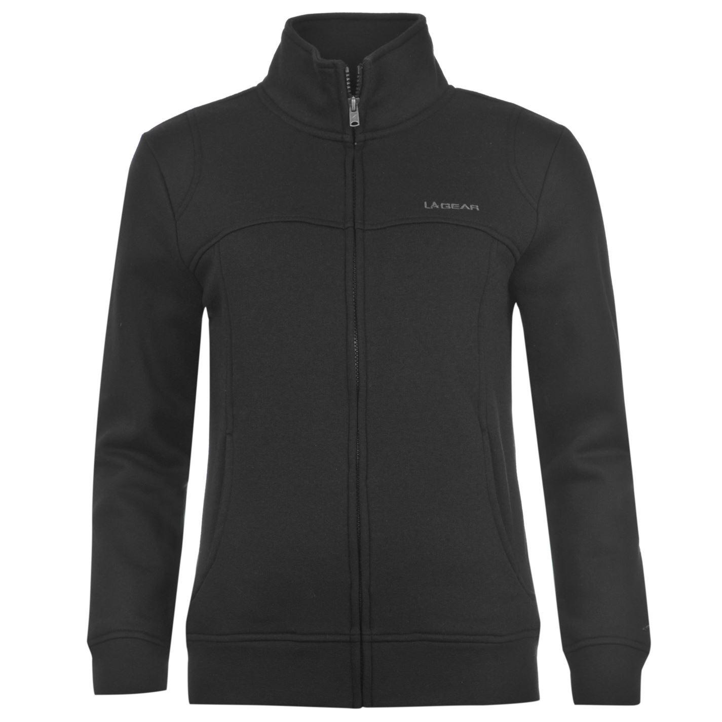 la gear full zip fleece track jacket womens black tracksuit top. Black Bedroom Furniture Sets. Home Design Ideas