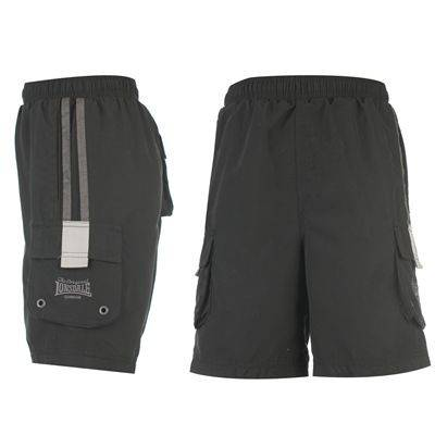 LONSDALE-LONDON-Boys-Black-Charcoal-Cargo-Shorts