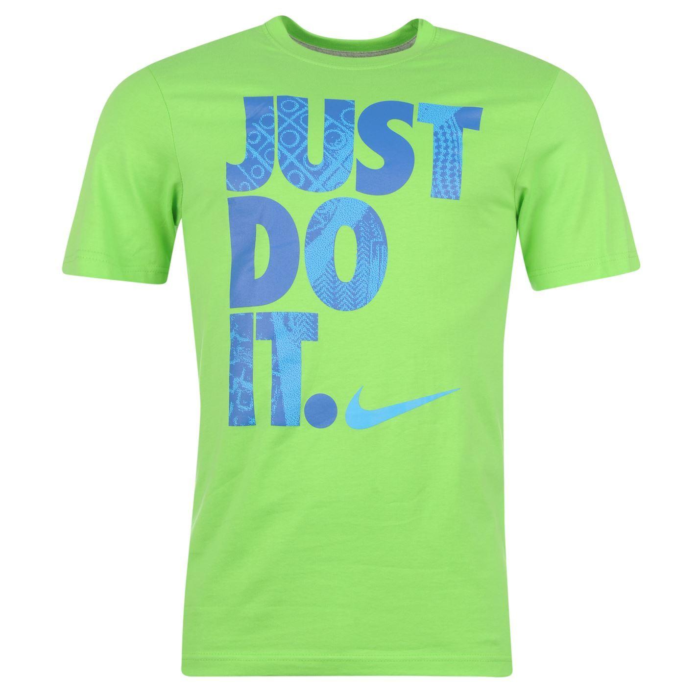 Nike Just Do It Mens T Shirt Green Top Tee Tshirt Ebay