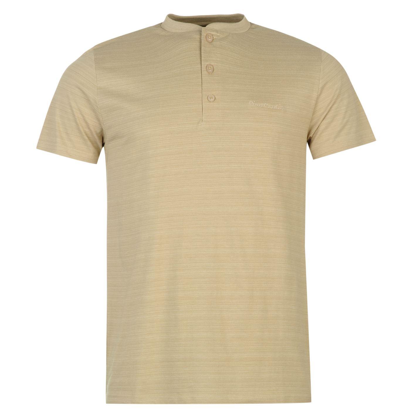 pierre cardin henley t shirt mens ecru top tee shirt ebay. Black Bedroom Furniture Sets. Home Design Ideas