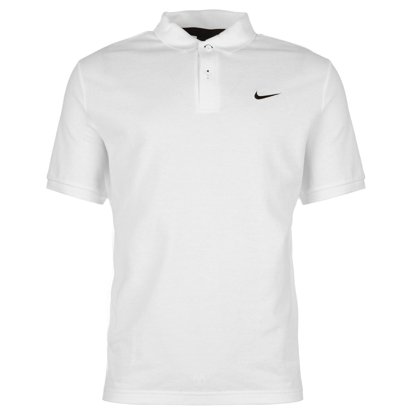 Nike Pique Polo Shirt Mens White Top T Shirt Tee