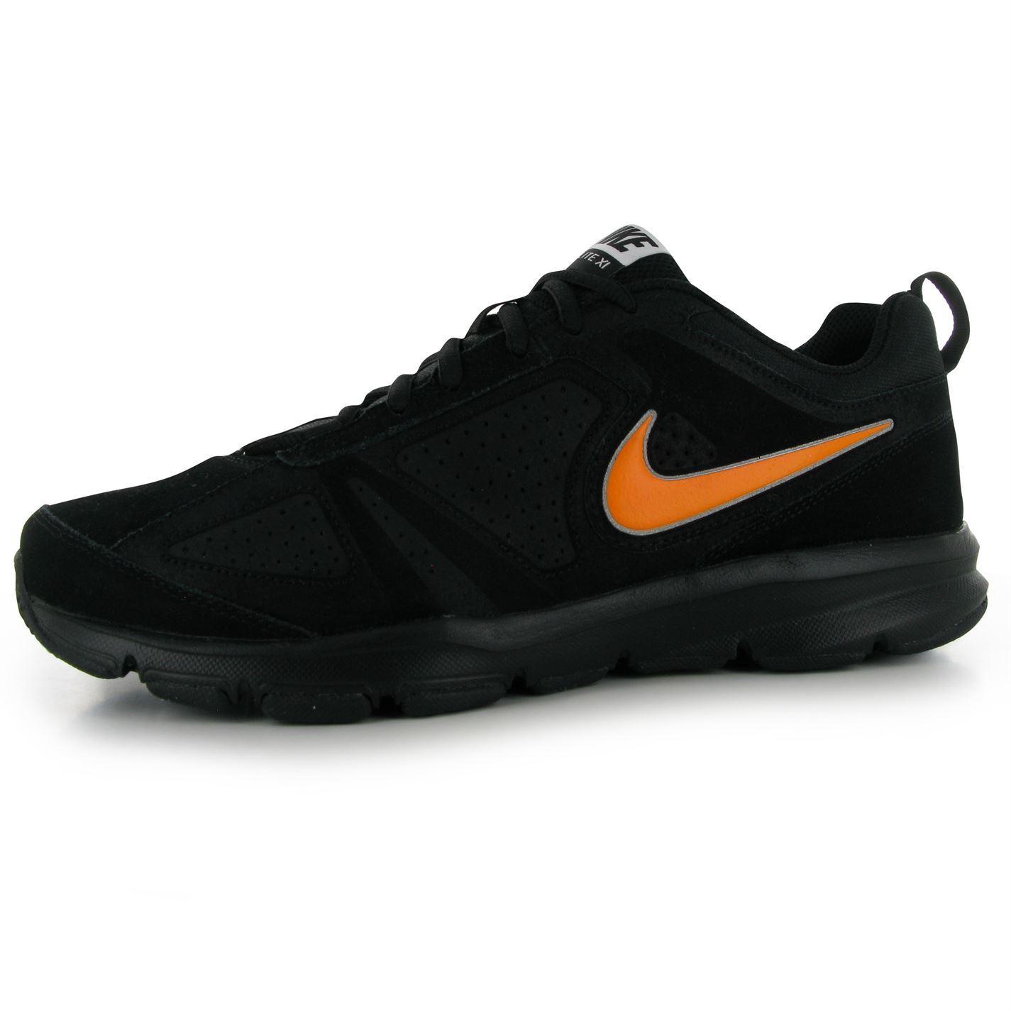 Nike trainers t lite xi women s sneakers sports runing shoes black - Nike T Lite 11 Nubuck Training Shoes Mens Black Orange Fitness Trainers Sneakers