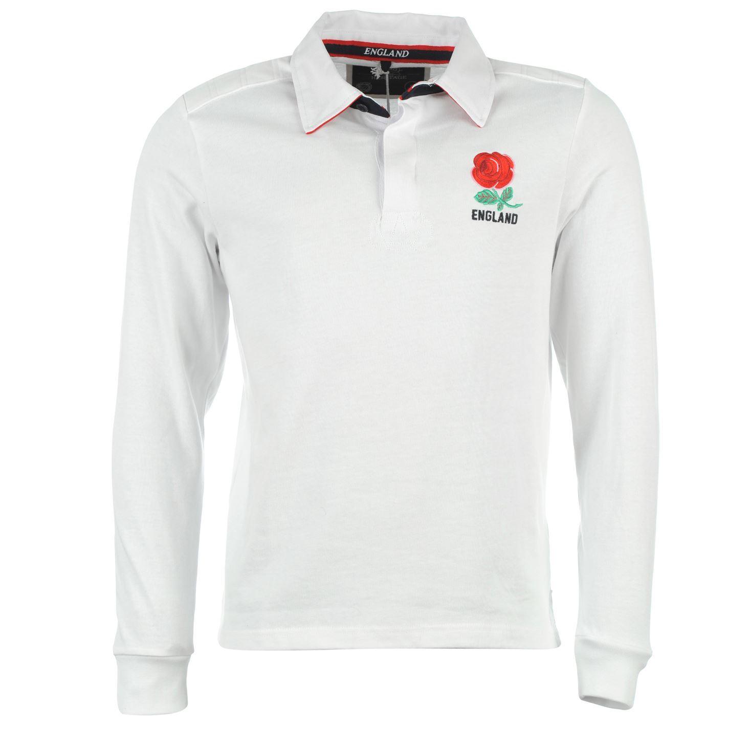d0472ea71c834 Int Rugby De Manga Larga Camiseta Polo Clásico Hombres Inglaterra ...