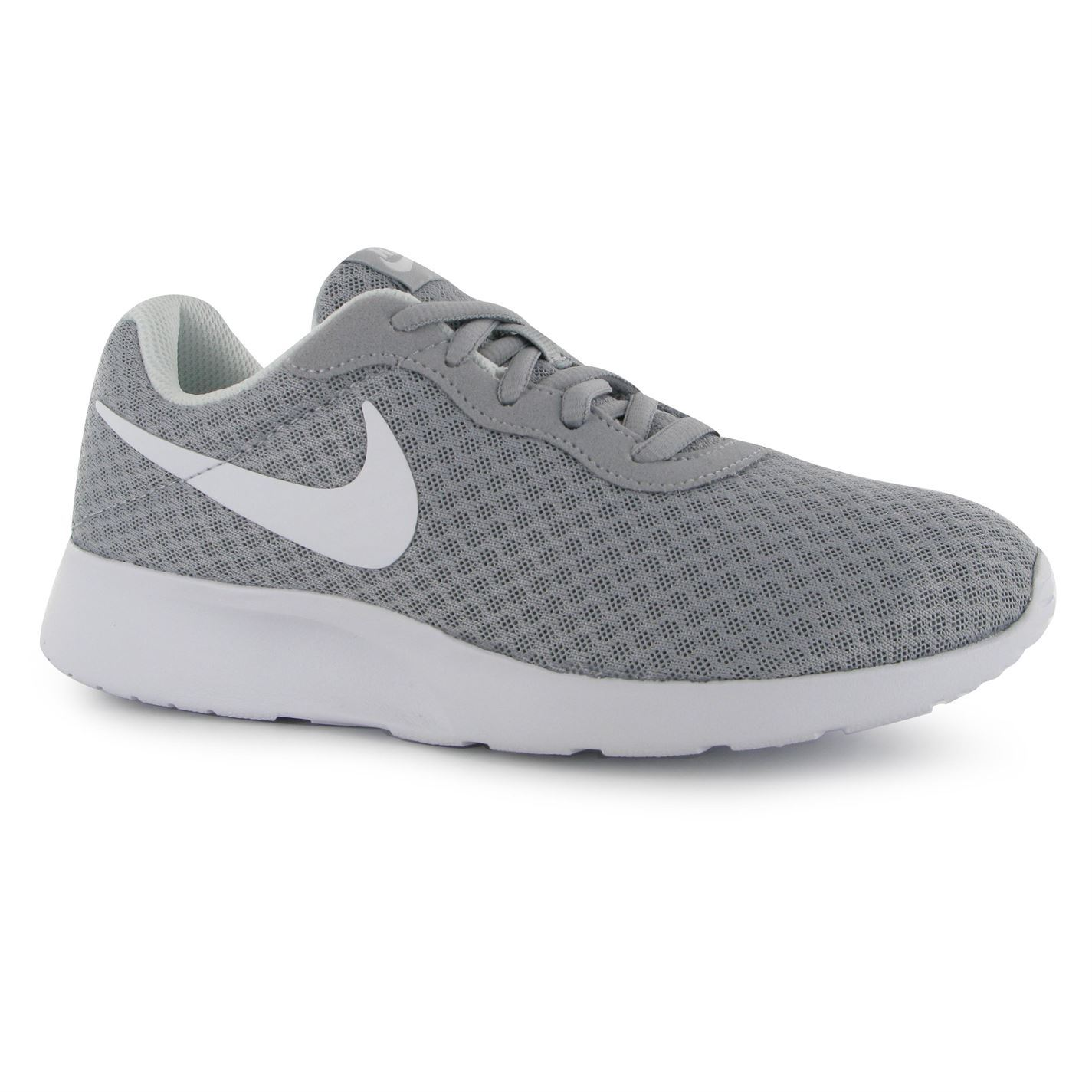 Nike Tanjun Fitness Trainers Womens Grey/White Gym Workout Sneakers Shoes