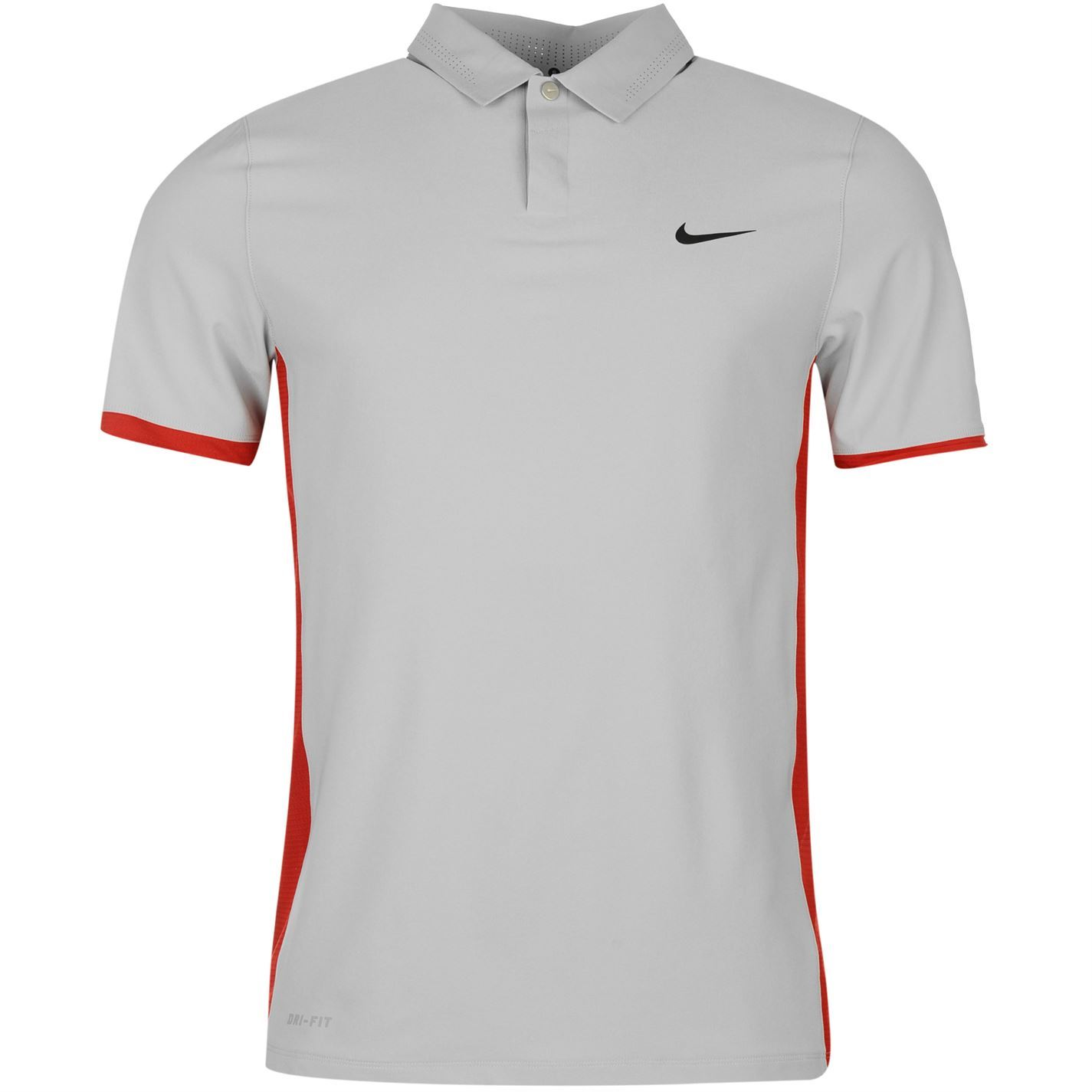 Nike tiger woods elite golf polo shirt mens grey red top t for Big tall nike golf shirts