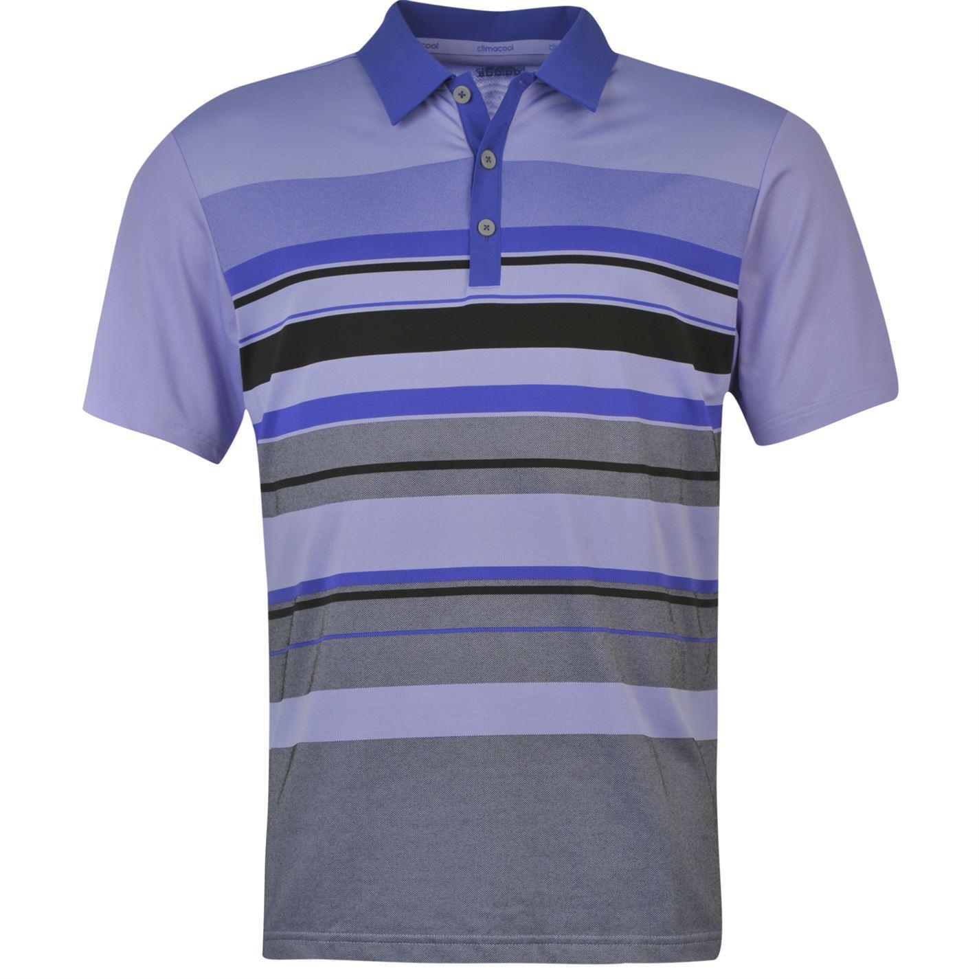 Striped Golf Polo Shirt Mens Light Purple Collared T Shirt Top Ebay