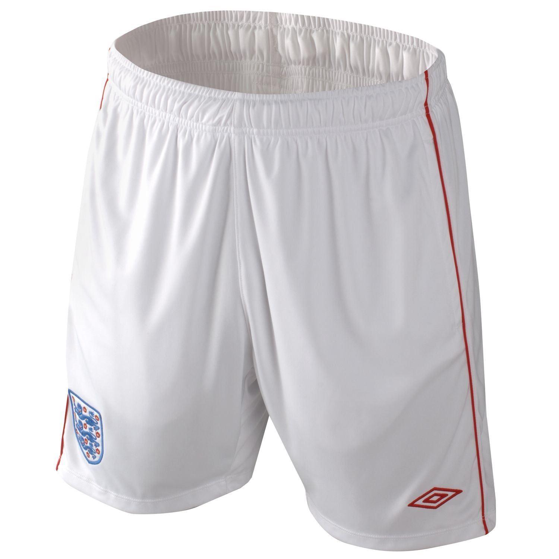 Umbro England Football Shorts Mens White Red Football