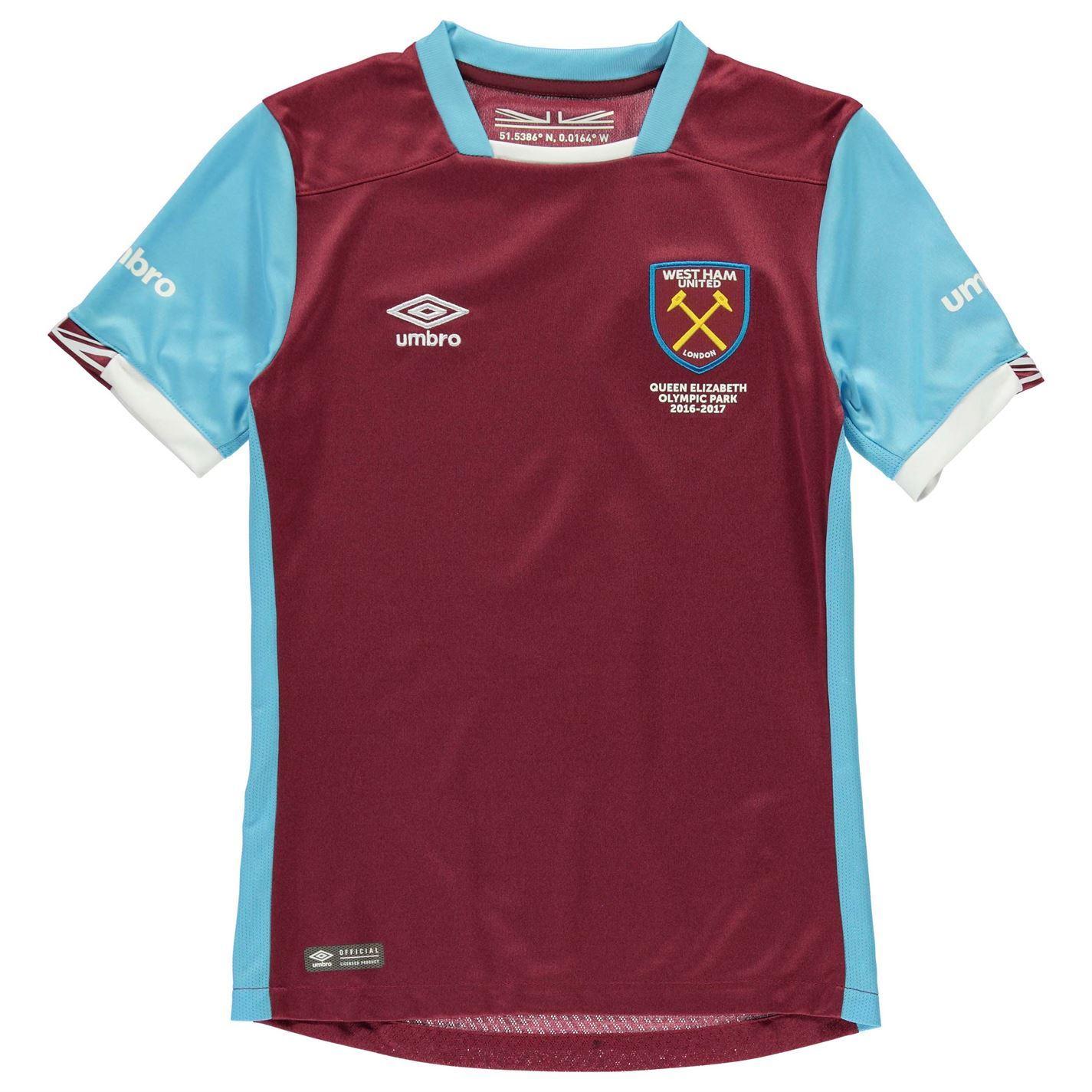 Umbro West Ham United Fc Home Jersey   Juniors Football Soccer