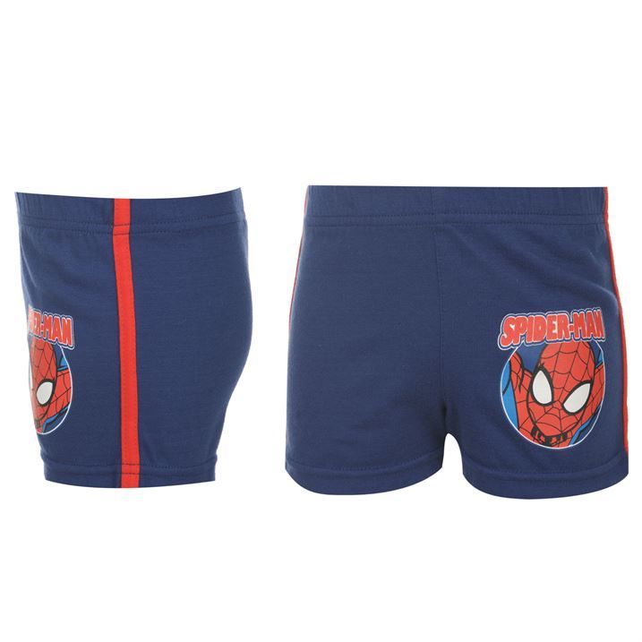 SPIDERMAN-Shorts-Baby-Infants-Marvel-Comics-Blue-Red