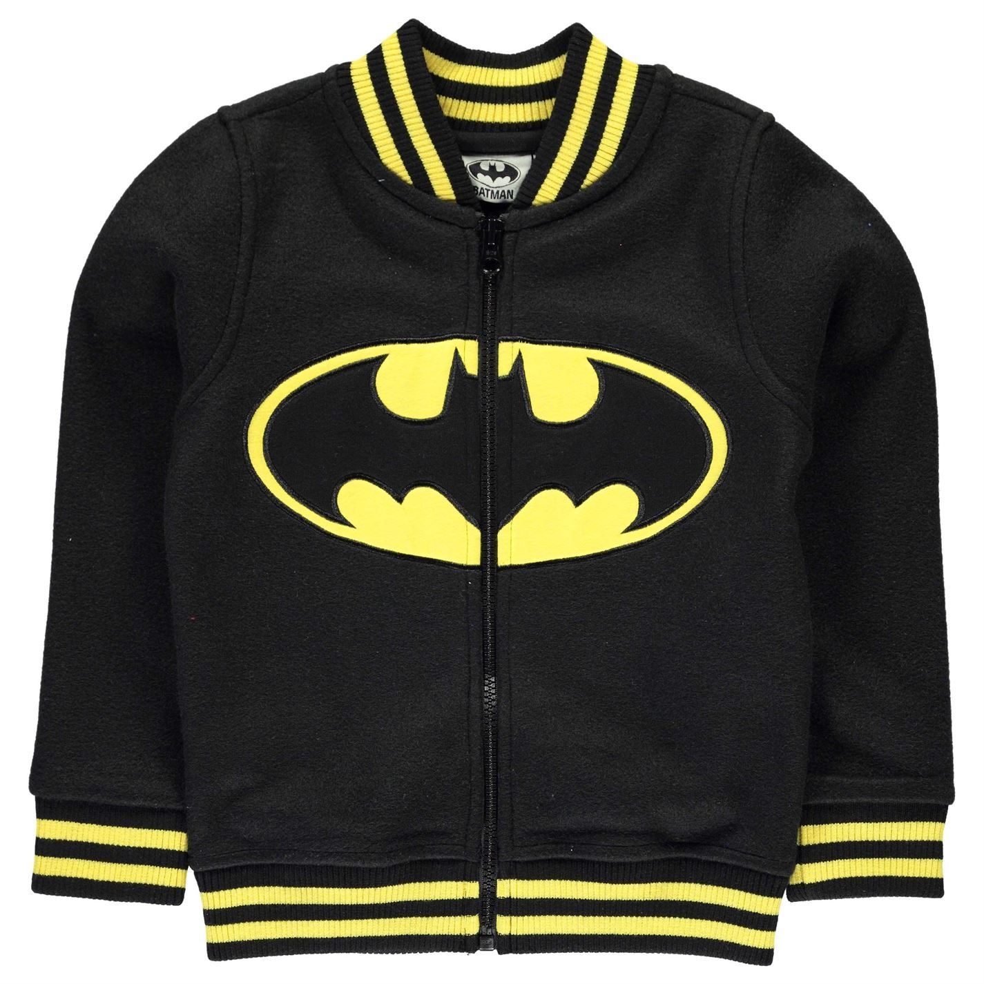 Batman Baseball Jacket Infant Boys Black/Yellow Coat Outerwear | eBay