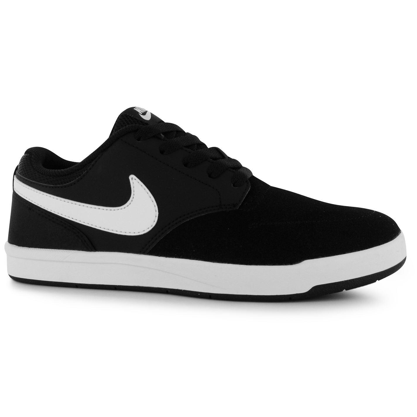 nike sb fokus skate shoes mens black white casual trainers