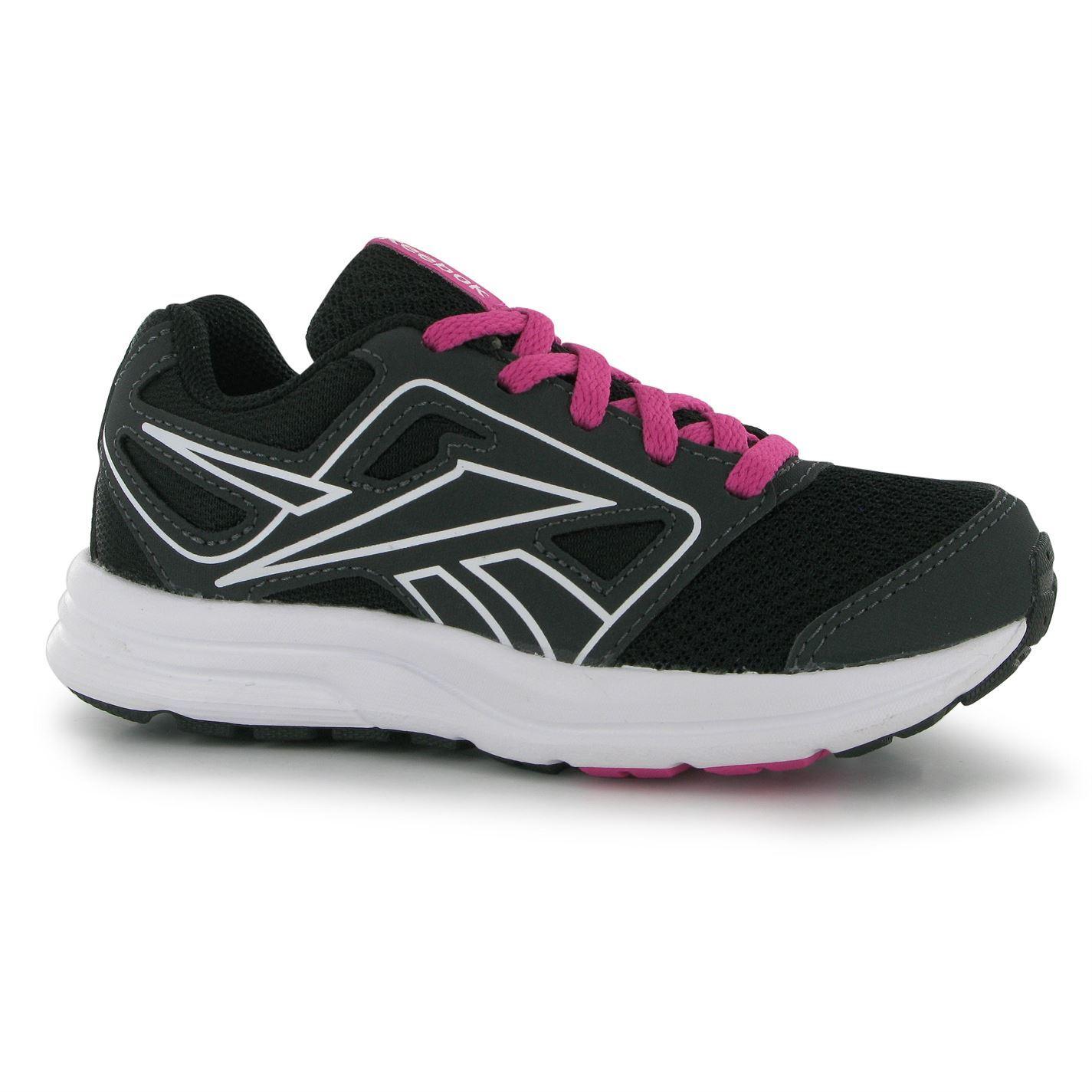 reebok zone cushrun trainers juniors gravel pink white