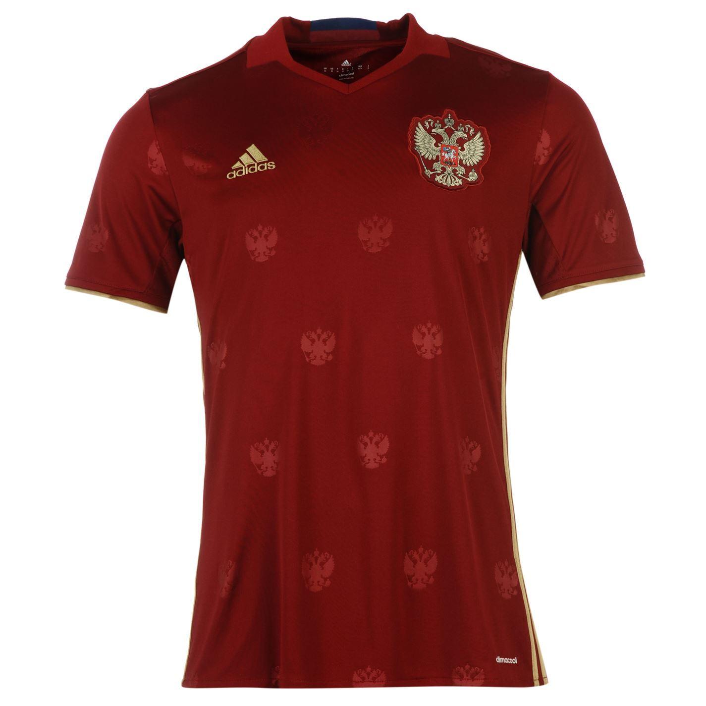 Adidas Russia Home Jersey 2016 Mens Burgundy Football