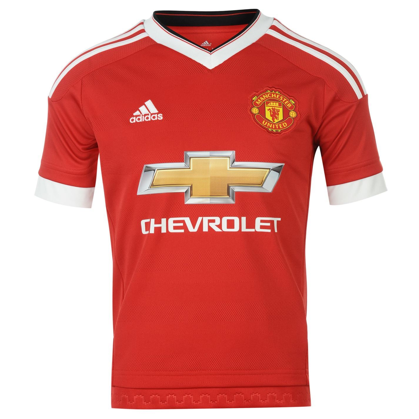 Adidas Manchester United Fc Home Jersey   Juniors Red Football