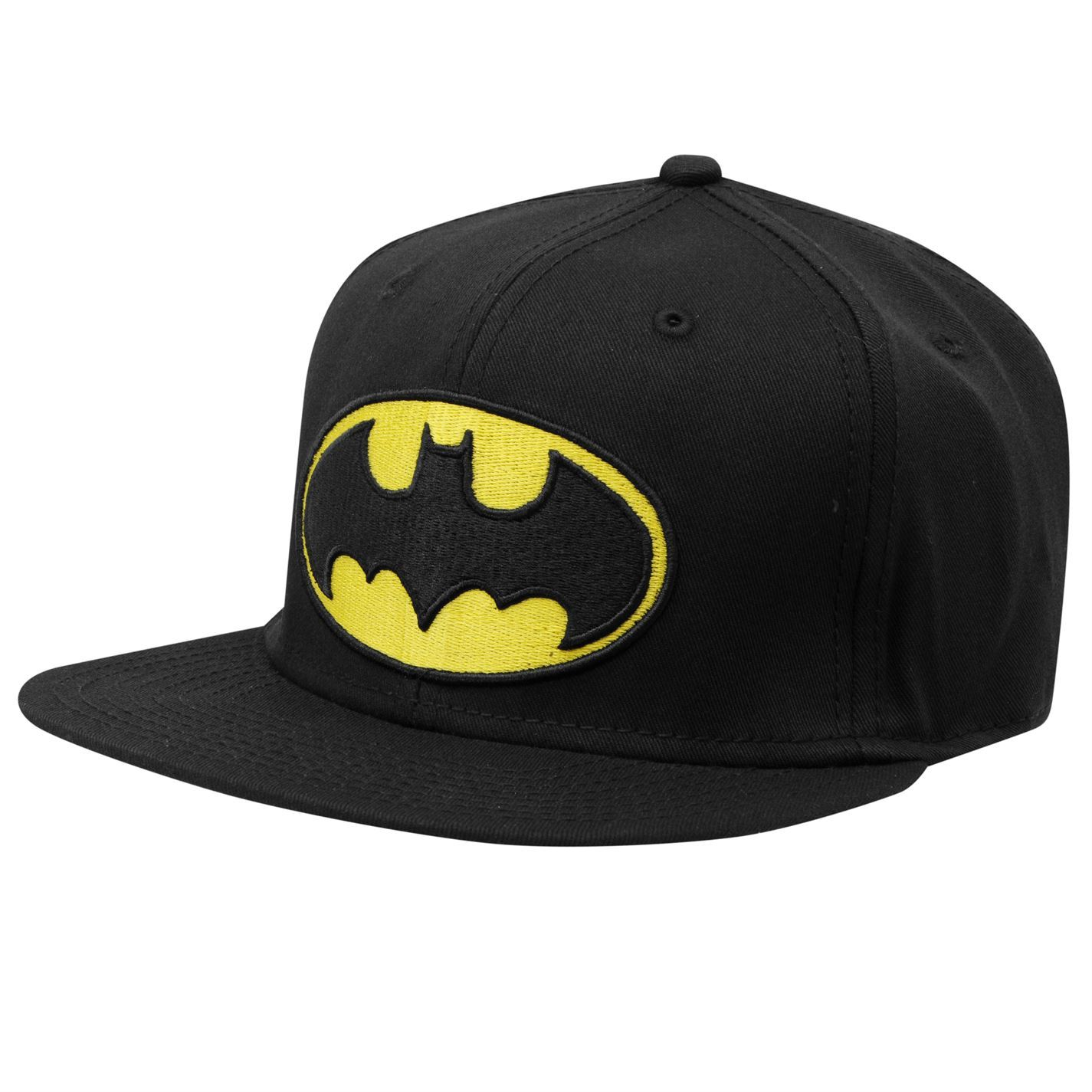 dc comics batman snap back baseball cap black yellow mens