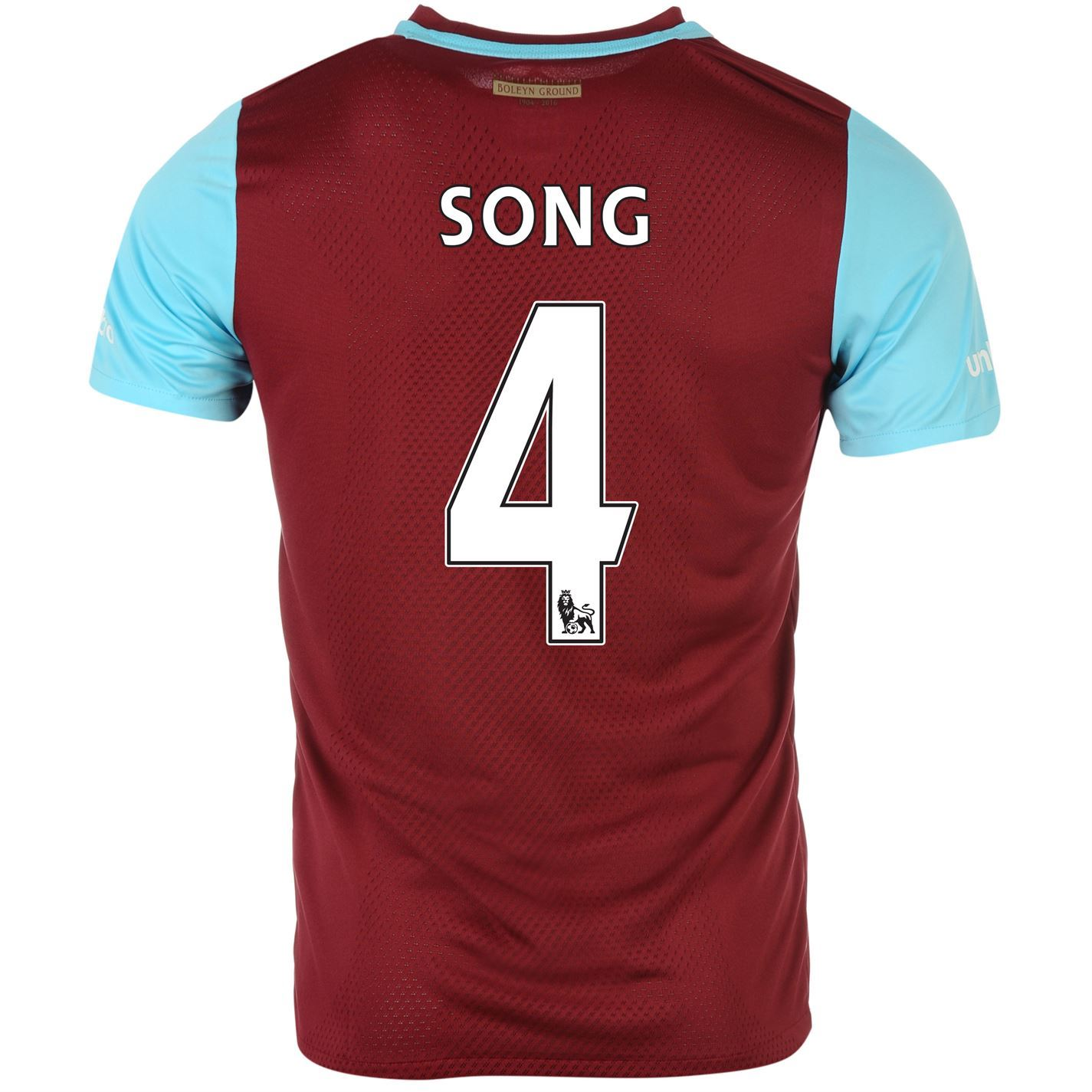 Umbro West Ham United Song 4 Home Jersey 2015 2016 Mens