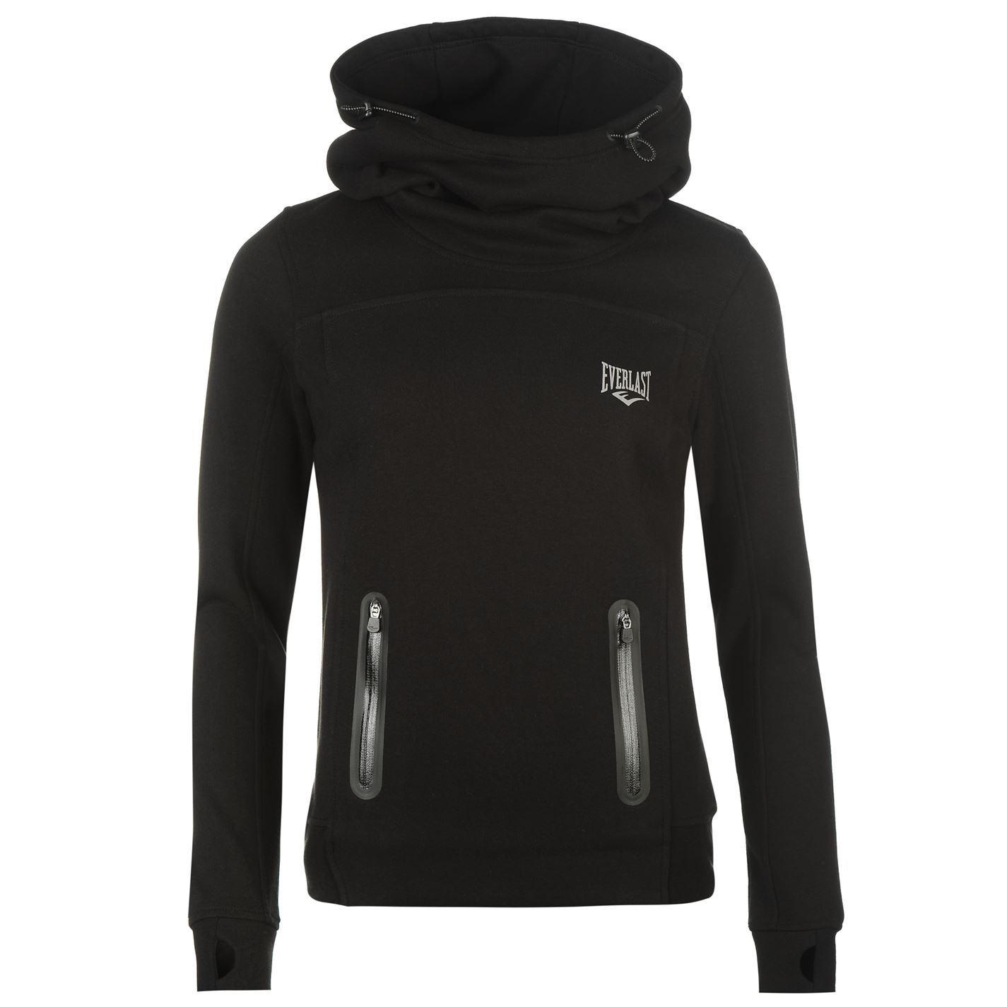 Womens black pullover hoodie