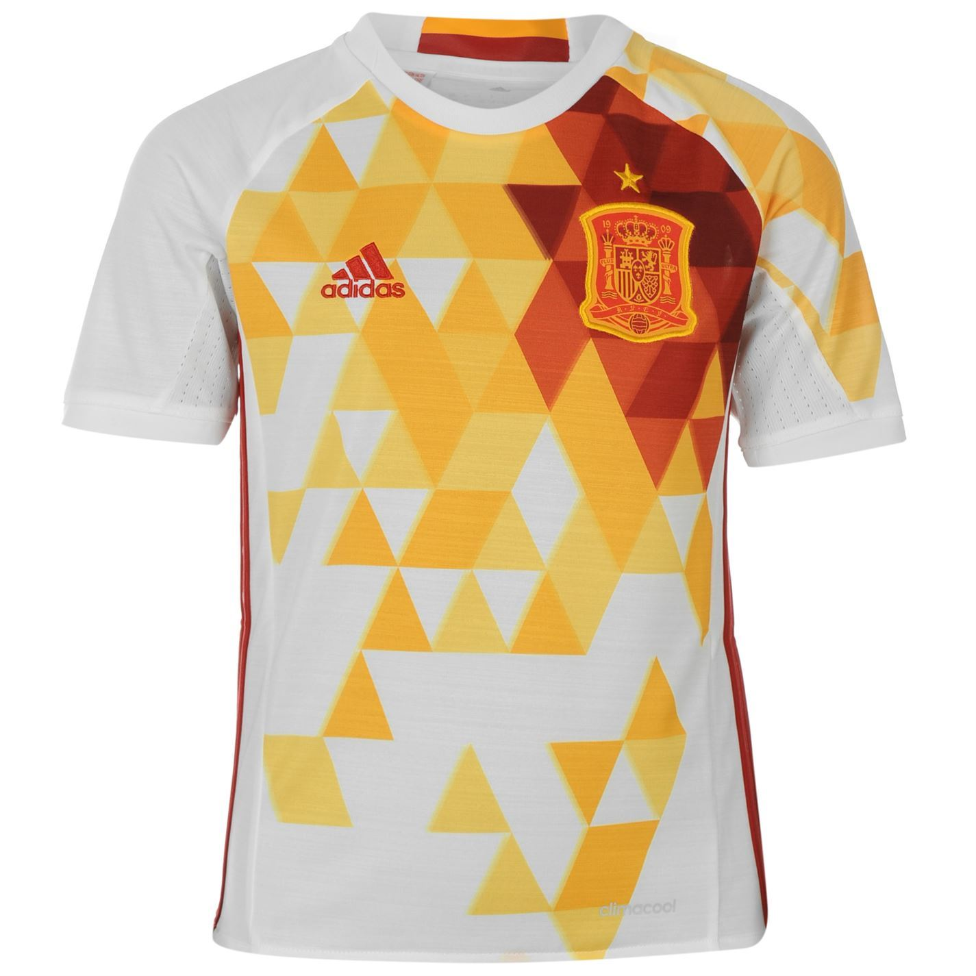 Adidas spain away jersey 2016 juniors white red football for Spain t shirt football