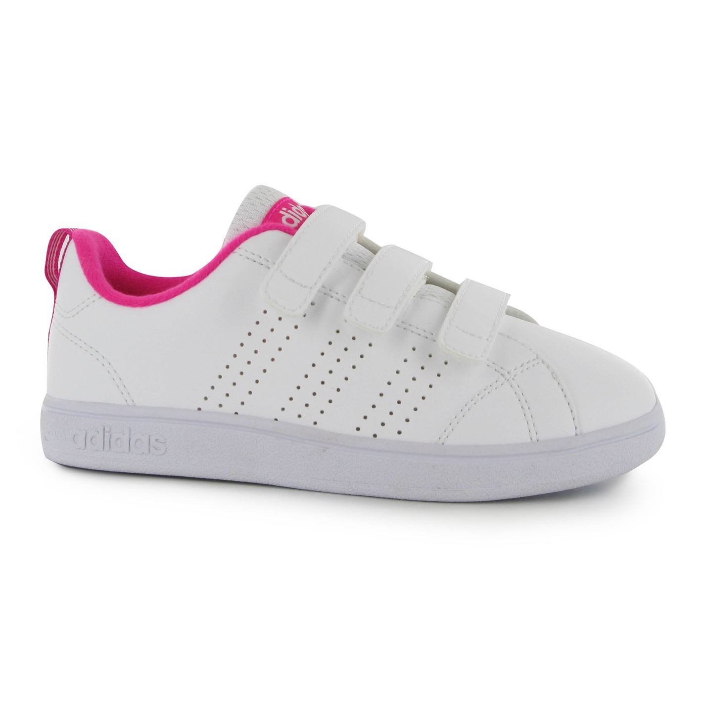 adidas advantage cf trainers junior girls white pink sports shoes sneakers ebay. Black Bedroom Furniture Sets. Home Design Ideas