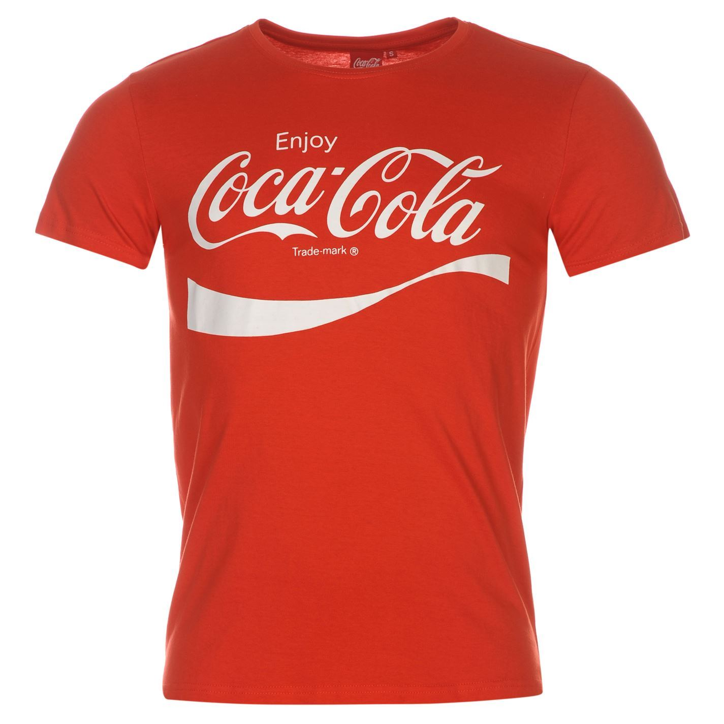 coca cola t shirt mens red top tee shirt ebay. Black Bedroom Furniture Sets. Home Design Ideas