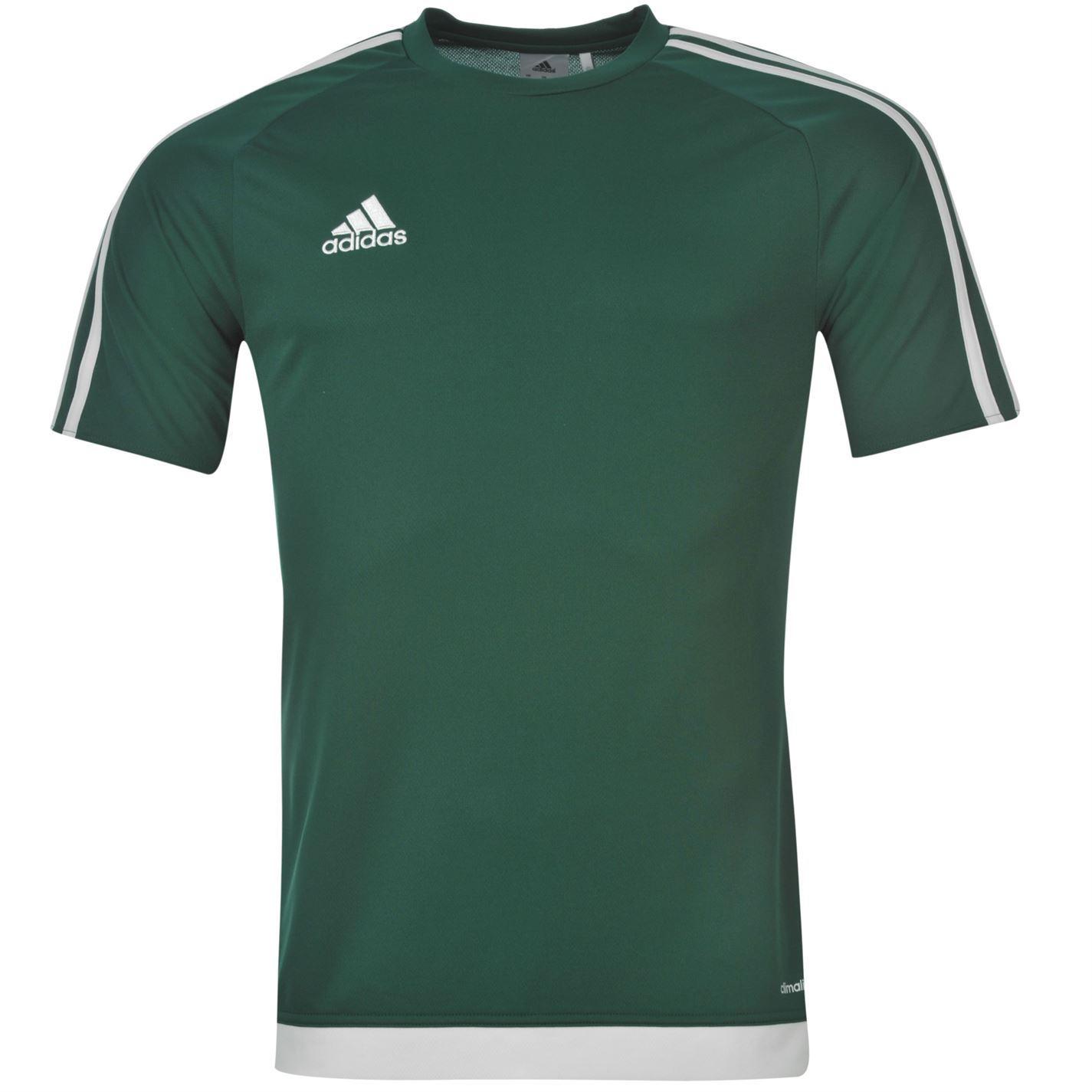 adidas 3 stripe estro climalite t shirt mens col green. Black Bedroom Furniture Sets. Home Design Ideas