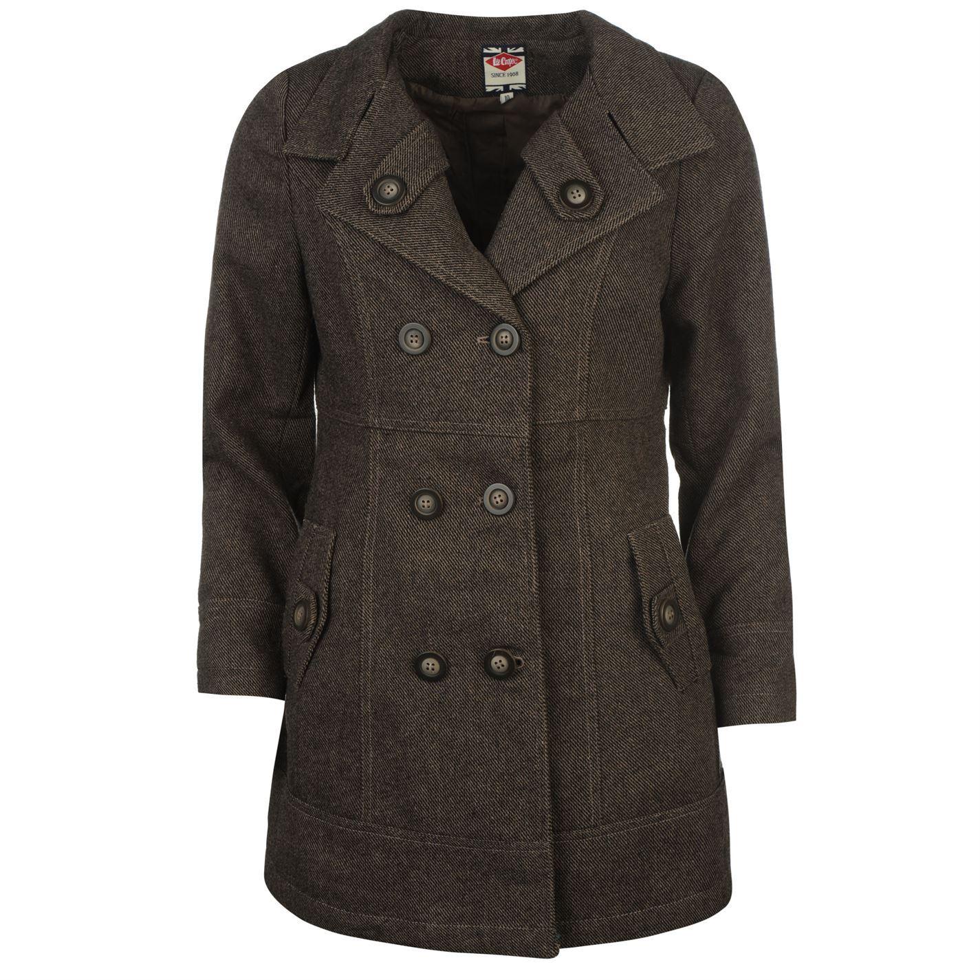 Lee Cooper Wool Coat Womens Brown Jacket Coat U0026 Jackets Outerwear | EBay