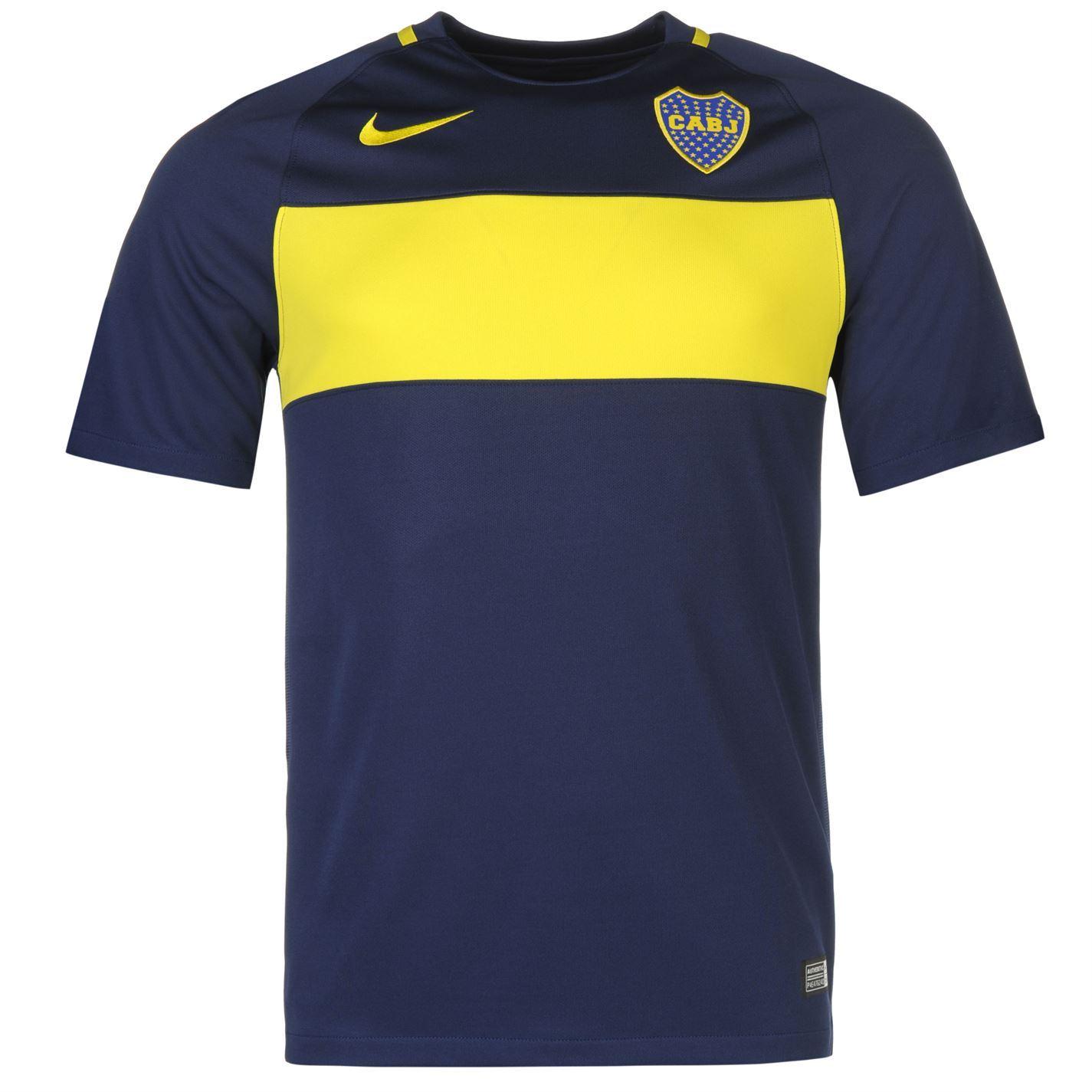 NIKE Boca Juniors Home Jersey 2016 2017 Mens Navy Football ...