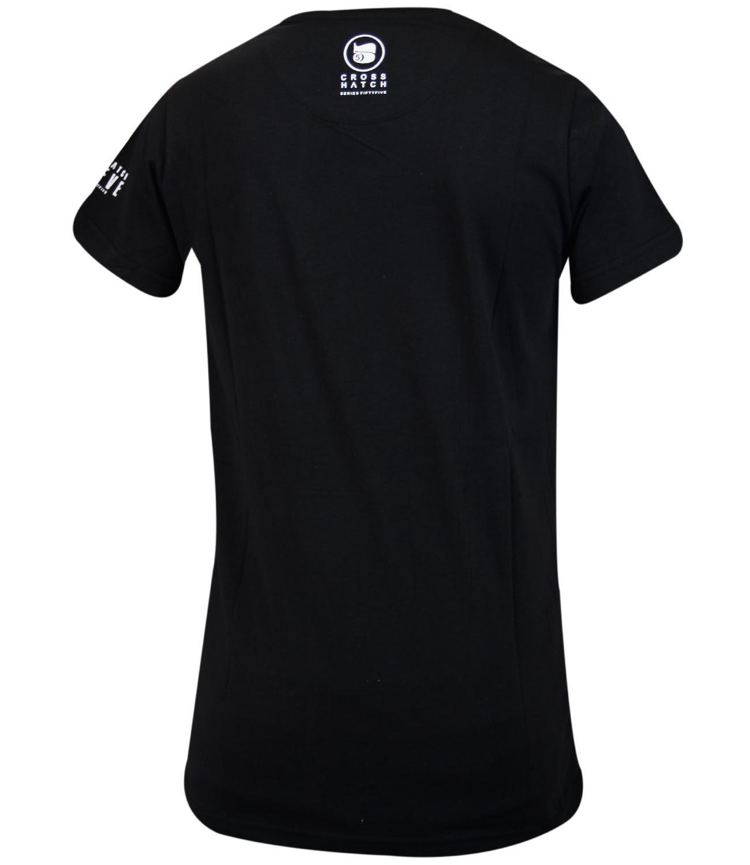 Mens Crosshatch Designer Graphic Printed Branded T Shirt
