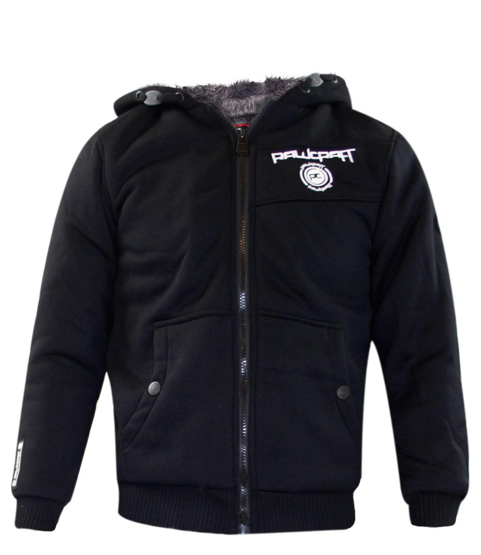 New Kids Boys Rawcraft Branded Fur Liner Winter Sherpa Fleece Lined Jacket Coat | EBay