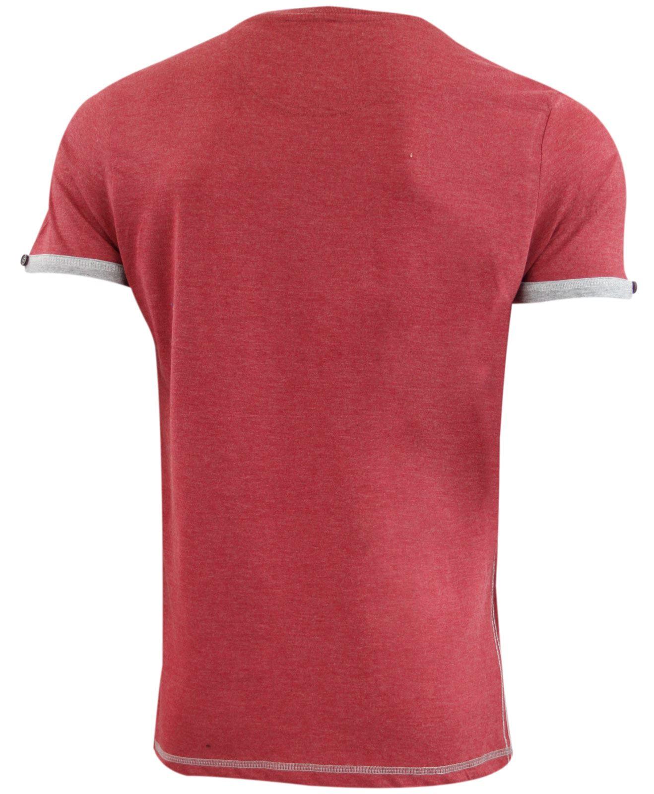 Mens New Smith & Jones Designer Raised Printed Crew Neck Cotton T-Shirt Top
