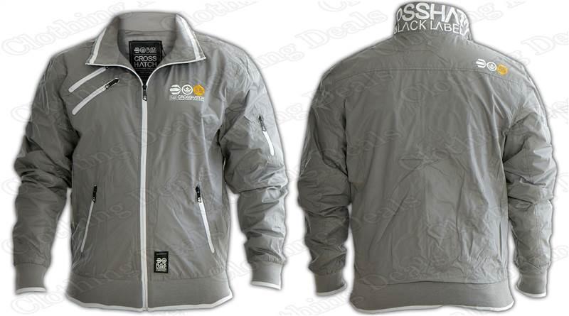 Mens Crosshatch Windbreaker Jacket Water Proof Summer Rain coat ...