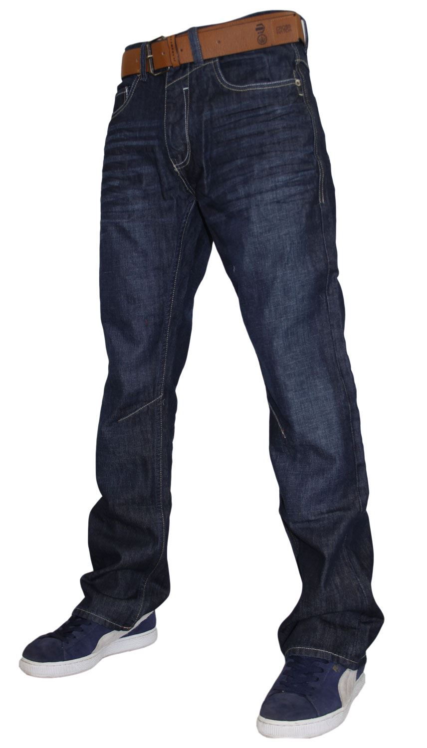 mens new crosshatch boot cut denim designer