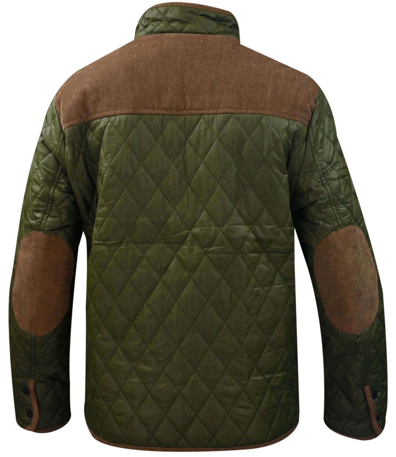 new men quilted coat funnel neck corduroy patches winter. Black Bedroom Furniture Sets. Home Design Ideas