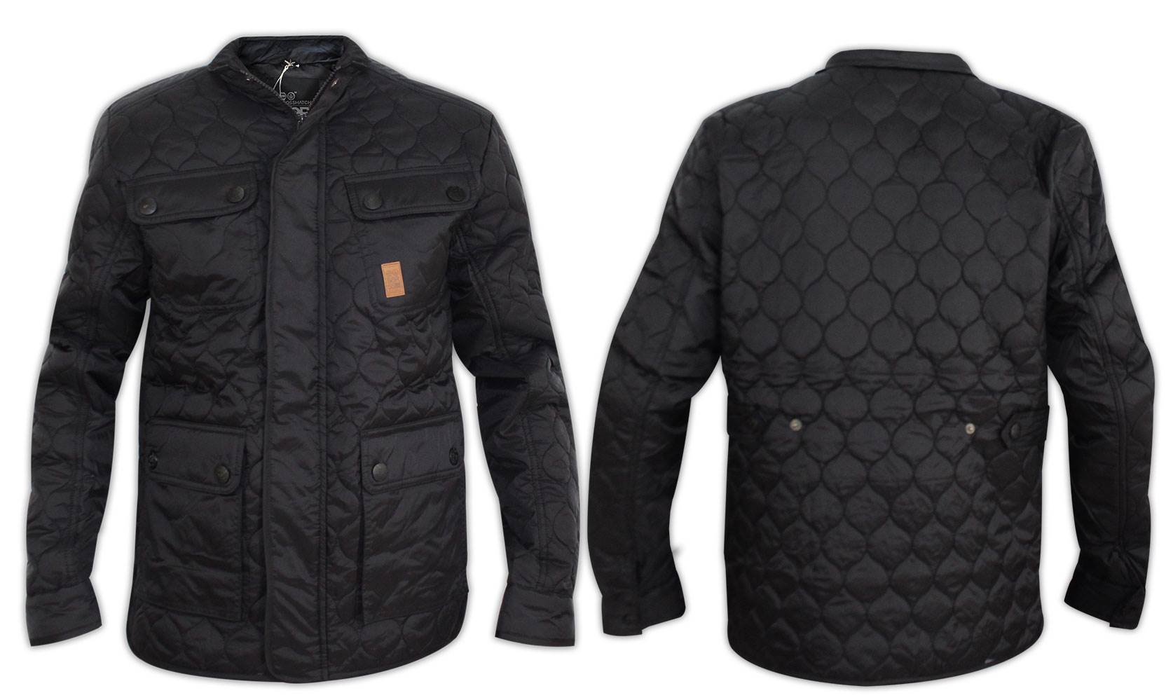 New Mens Crosshatch Quilted Cord Funnel Neck Zip Lined Jacket ...