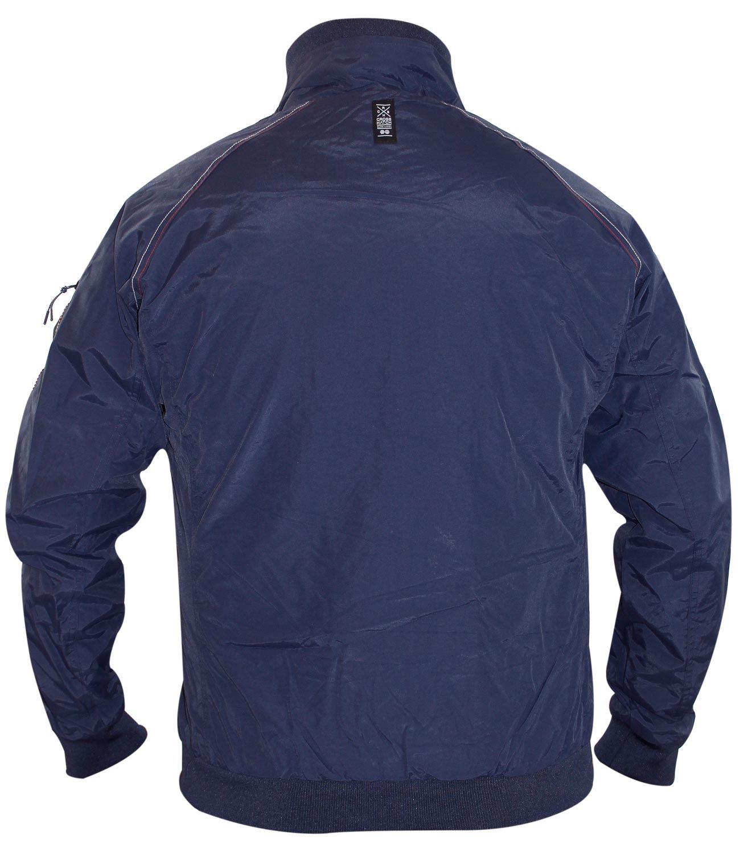 New Mens Crosshatch Designer Double Zip Collared Lined Jacket Windbreaker Coat