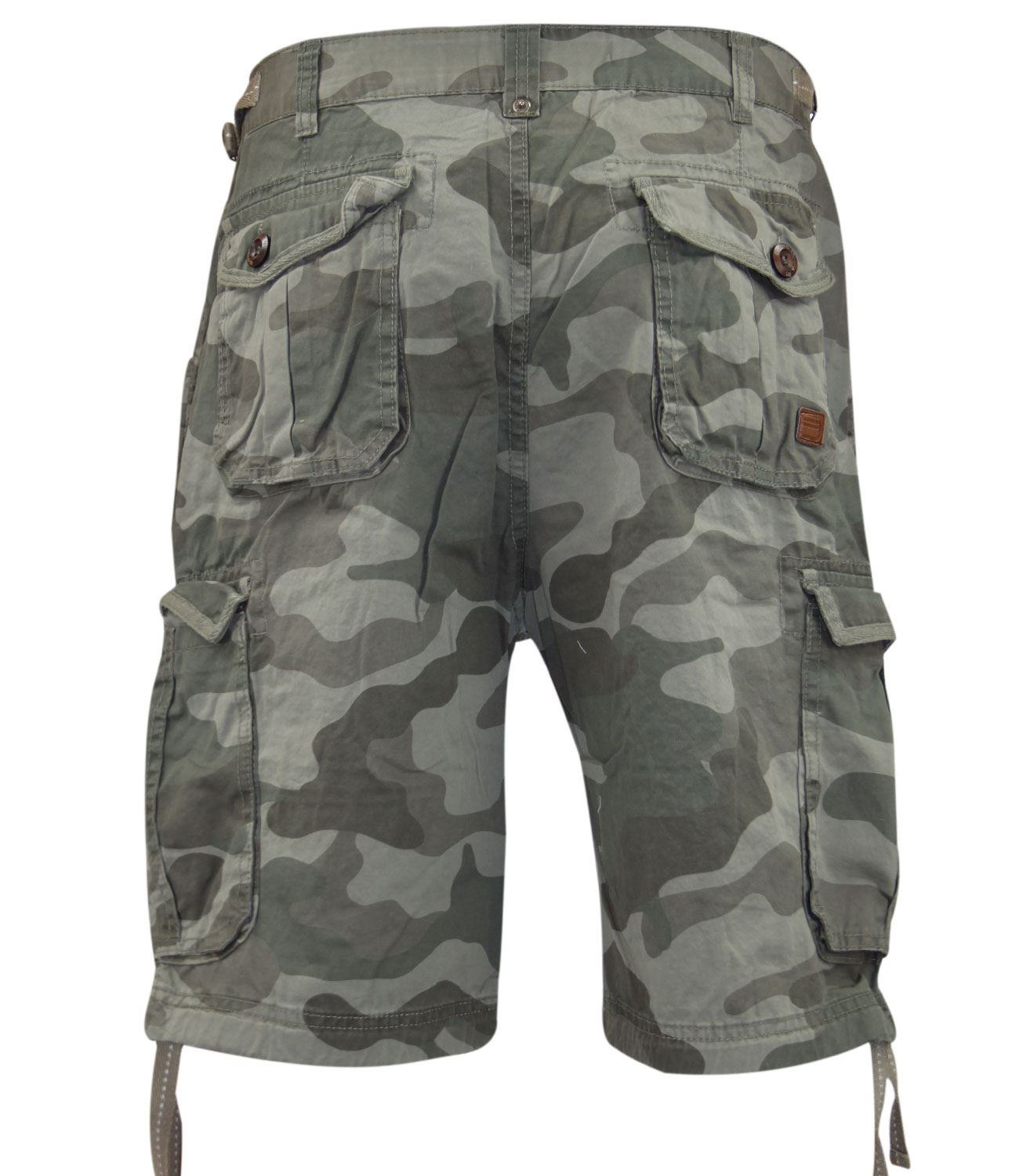 New Mens Designer Smith & Jones Brand Camo Cargo Combat Three ...