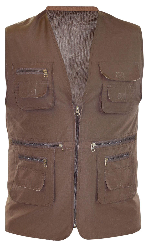 new mens body warmer mesh lined waistcoat safari gilet. Black Bedroom Furniture Sets. Home Design Ideas