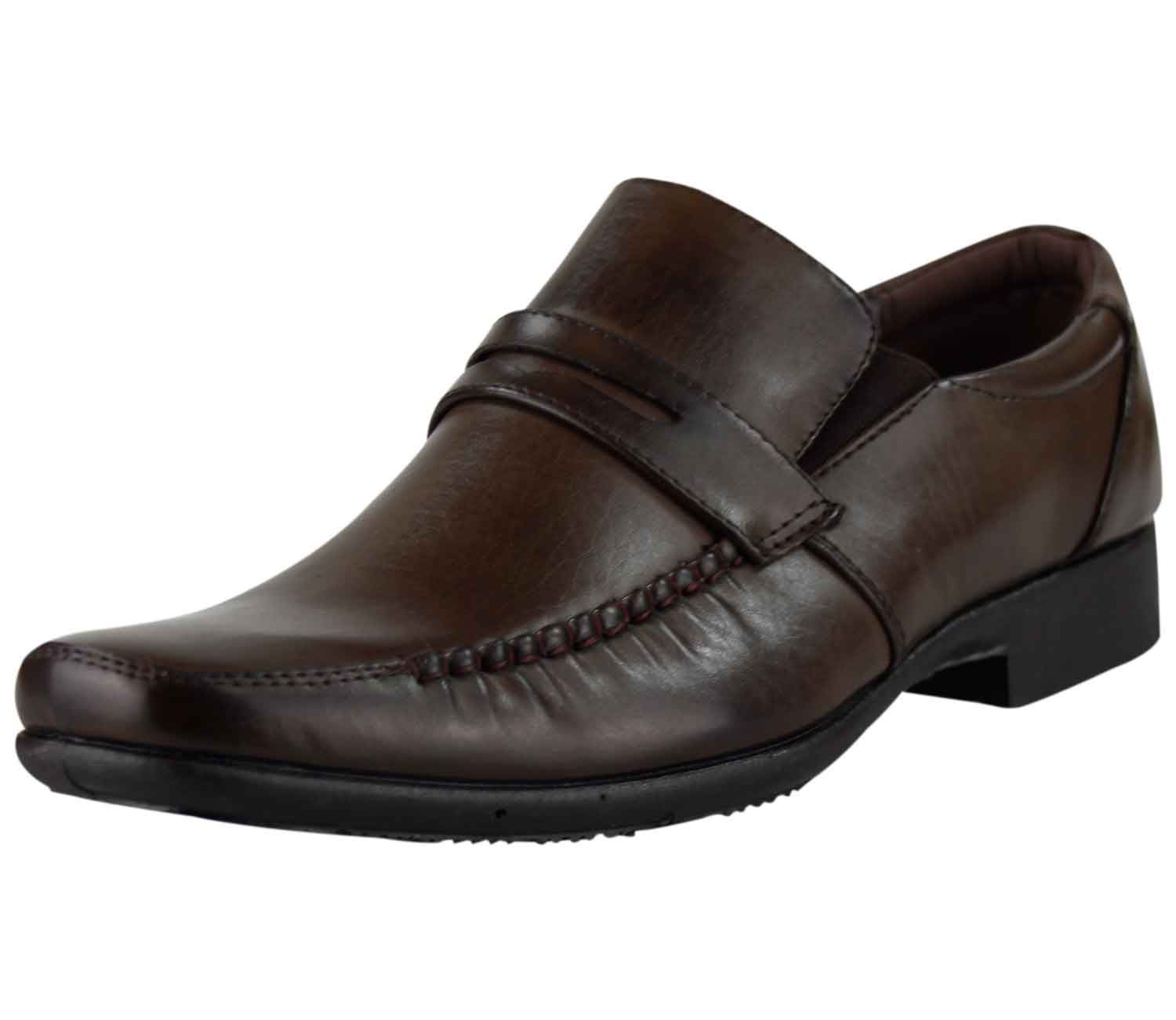 new mens classic office formal work shoes casual pu