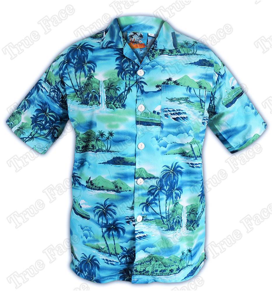 55ef5efd0 Detalles de Camisa Playera Hawaiana Hombre Niño TrueFace Manga Corta