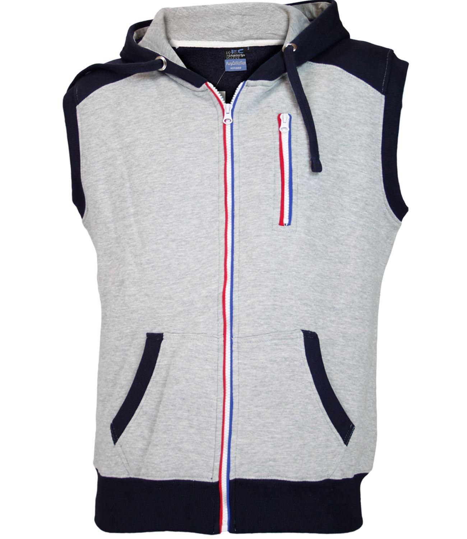 Sleeveless zipper hoodie