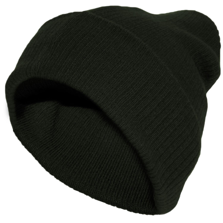 Knitting Pattern Floppy Beanie : Knitted Beanie Floppy Hat Mens Ladies Unisex Winter Ladies ...