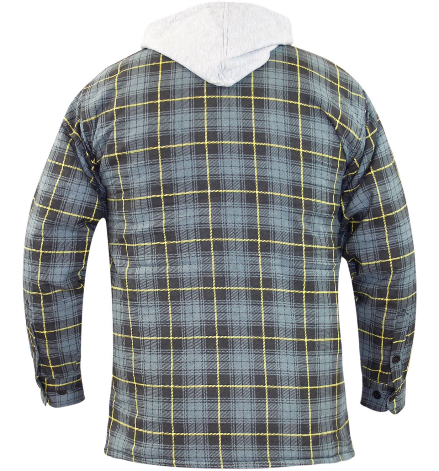 Mens lumberjack padded lined cotton work check shirt for Mens padded lumberjack shirt