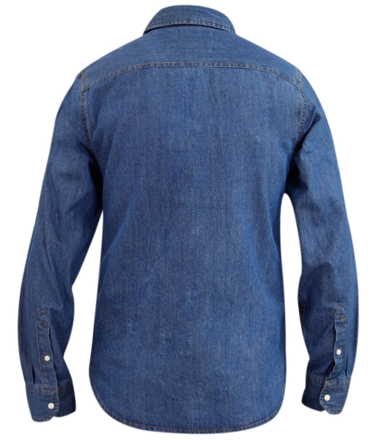 New mens jacksouth designer long sleeve denim brand casual for Mens long sleeve casual cotton shirts