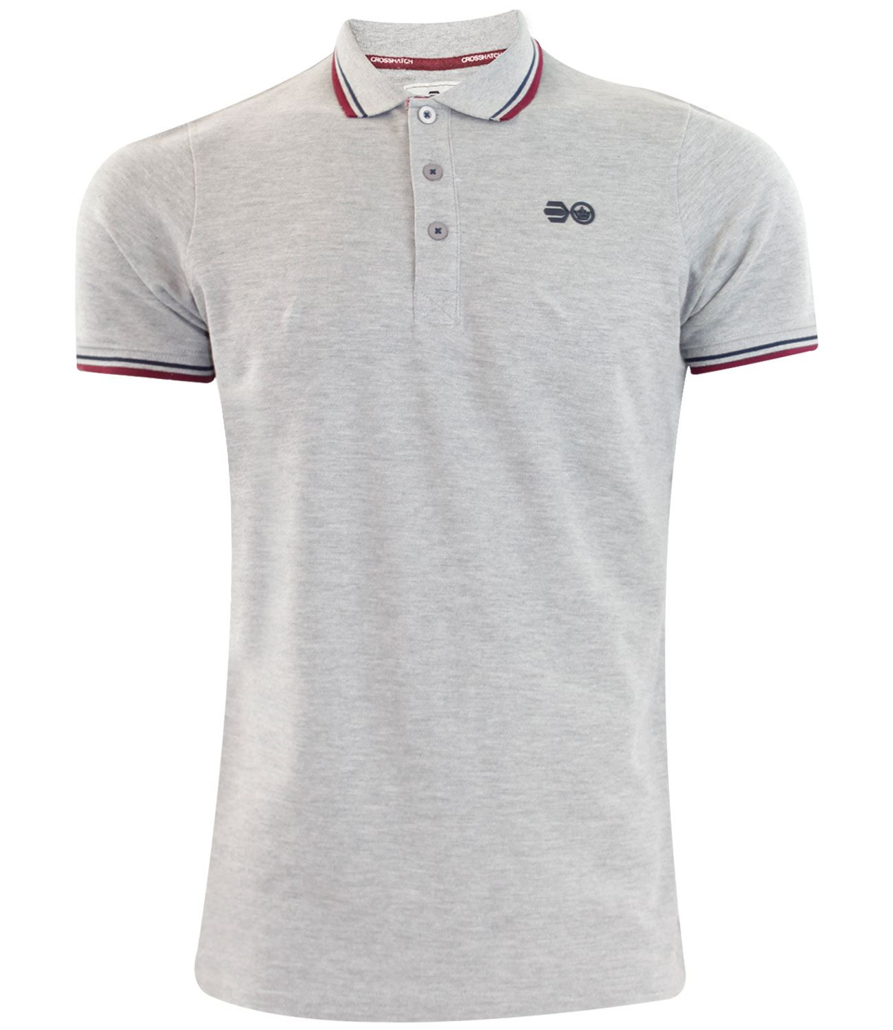 T shirt white colour - New Mens Branded Crosshatch Pk Polo T Shirt Tipping Colour Cotton Pique Tee
